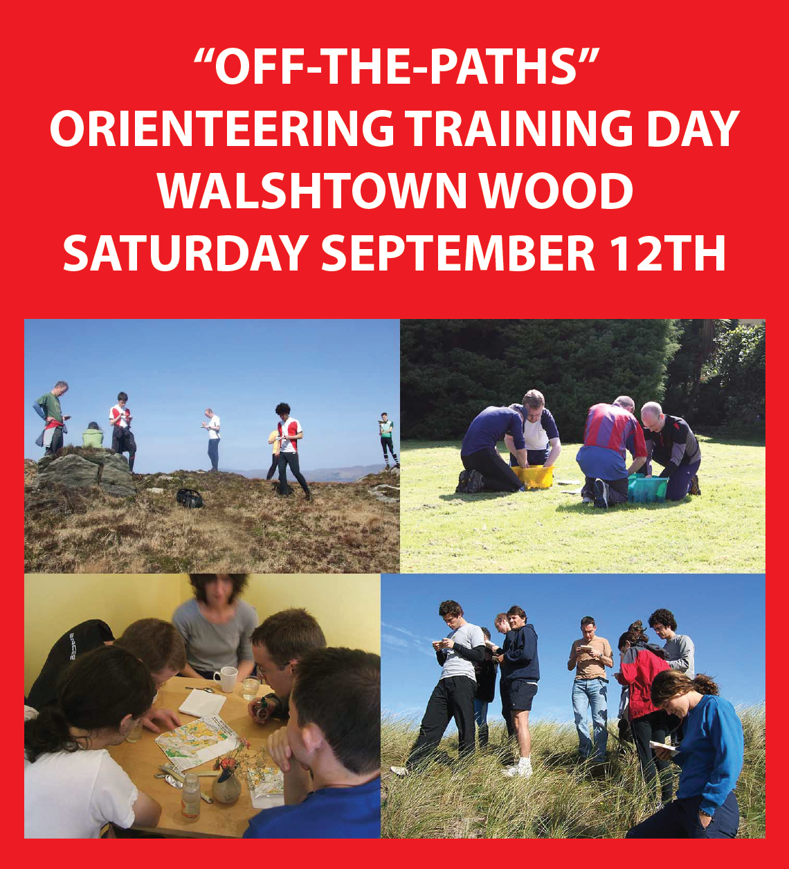 Off The Paths Training Day - Walshtown Wood SATURDAY SEPTEMBER 12TH